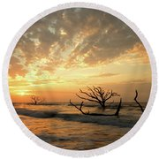 Botany Bay Sunrise Round Beach Towel