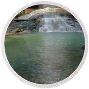 Bottom Of Falls Round Beach Towel