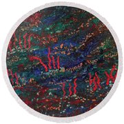 Bottom Of The Sea Round Beach Towel