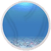Round Beach Towel featuring the digital art Bottom Of The Sea by Phil Perkins