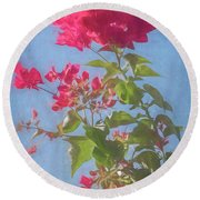 Bougainvillea Morning Round Beach Towel
