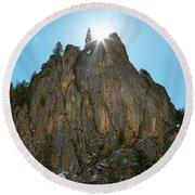 Boulder Canyon Narrows Pinnacle Round Beach Towel by James BO Insogna