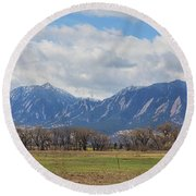 Round Beach Towel featuring the photograph Boulder Colorado Prairie Dog View  by James BO Insogna