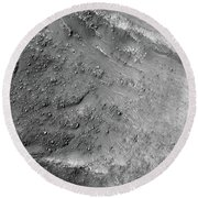 Boulders On A Martian Landslide Round Beach Towel
