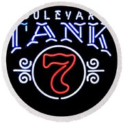 Boulevard Tank 7 Round Beach Towel