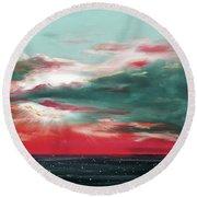 Bound Of Glory - Panoramic Sunset  Round Beach Towel