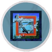 Boundary Series Xvii Round Beach Towel