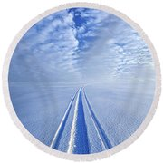 Boundless Infinitude Round Beach Towel