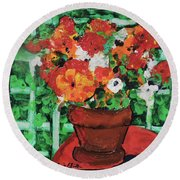 Bouquet A Day Floral Painting Original 59.00 By Elaine Elliott Round Beach Towel