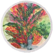 Bouquet And Ribbon Round Beach Towel