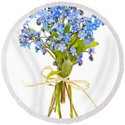 Bouquet Of Forget-me-nots Round Beach Towel