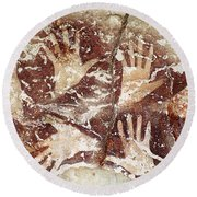 Bouquet Of Hands - Ilas Kenceng Round Beach Towel