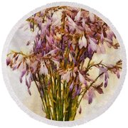 Bouquet Of Hostas Round Beach Towel