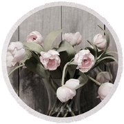 Bouquet Of Tulips Round Beach Towel