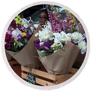 Bouquets For Sale Round Beach Towel
