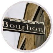 Bourbon Street, New Orleans, Louisiana Round Beach Towel