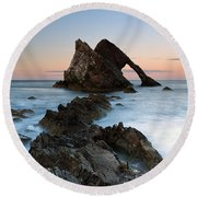 Bow Fiddle Rock At Sunset Round Beach Towel