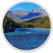 Bow River Round Beach Towel by Heather Vopni