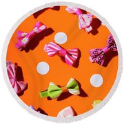 Round Beach Towel featuring the photograph Bow Tie Party by Jorgo Photography - Wall Art Gallery
