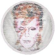 Bowie Typo Round Beach Towel