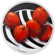 Delicious Apples Round Beach Towel