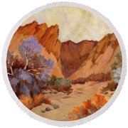 Box Canyon Round Beach Towel