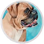Boxer Round Beach Towel