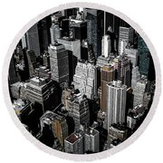 Round Beach Towel featuring the photograph Boxes Of Manhattan by Nicklas Gustafsson