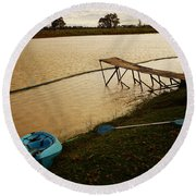 Round Beach Towel featuring the photograph Boyanup Iv by Cassandra Buckley