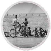 Boys From Brazil Round Beach Towel