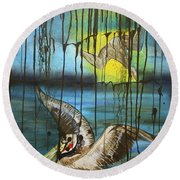 Bp Or You Round Beach Towel by Tbone Oliver