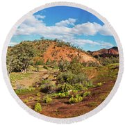 Bracchina Gorge Flinders Ranges South Australia Round Beach Towel by Bill Robinson