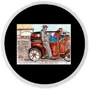 Bracco Candy Store - Window To Life As It Happened Round Beach Towel by Philip Bracco