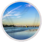 Bradenton Inlet Round Beach Towel