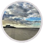 Brancaster Beach This Afternoon 9 Feb Round Beach Towel