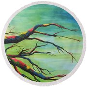 Branching Out In Color Round Beach Towel