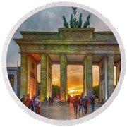 Brandenburg Gate Round Beach Towel