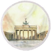 Brandenburger Tor, Berlin Round Beach Towel