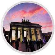 Branderburg Gate Round Beach Towel