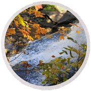 D30a-18 Brandywine Falls Photo Round Beach Towel