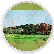 Beaver Valley Round Beach Towel