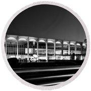Brasilia - Itamaraty Palace - Black And White Round Beach Towel