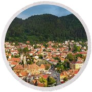 Round Beach Towel featuring the photograph Brasov by Fabrizio Troiani