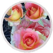 Brass Band Roses Round Beach Towel