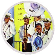 Brass Of  Class New Orleans Round Beach Towel