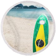 Brazilian Standup Paddle Round Beach Towel