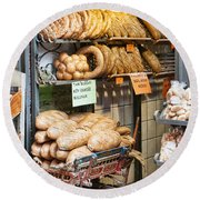 Breads For Sale Round Beach Towel