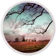 Break Of Dawn Round Beach Towel
