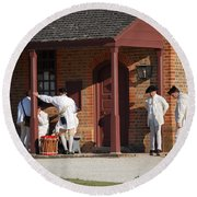 Round Beach Towel featuring the photograph Break Time by Eric Liller