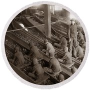 Breaker Boys Lehigh Valley Coal Co Maltby Pa Near Swoyersville Pa Early 1900s Round Beach Towel